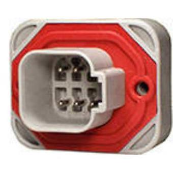 TE Connectivity DT15-6P Bullet connector Plug, straight Series (connectors): DT Total number of pins: 6 1 pc(s)
