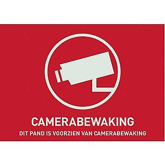 ABUS AU1305 Warning label CCTV Languages Dutch (W x H) 74 mm x 53 mm