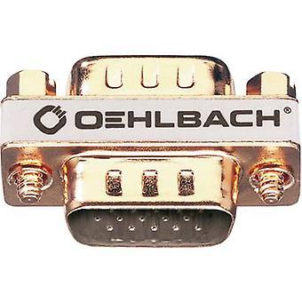 Oehlbach VGA Adapter [1 x VGA plug - 1 x VGA kontakt] guld guldpläterade kontakter