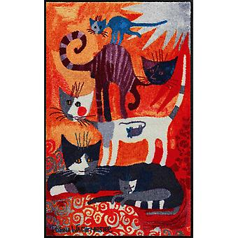 Rosina Wachtmeister chat tour plancher lavable mat motif animal