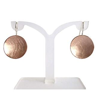 Earrings Rosé gold plated earrings shell silver red gold plated