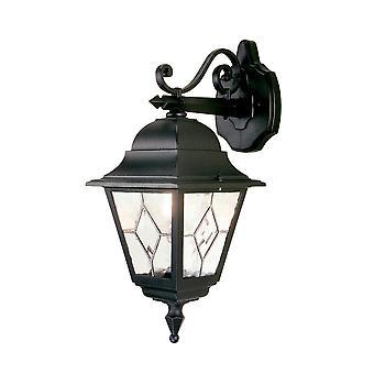 Elstead iluminação Norfolk exterior IP43 baixo lanterna de parede em preto