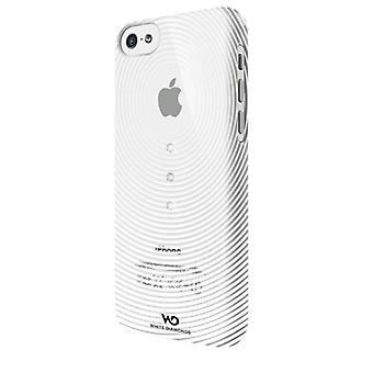 Witte diamanten Crystal Case voor Apple iPhone 5c (zwaartekracht wit)
