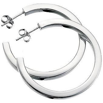 Beginnings Square Cut Large Hoop Earrings - Silver