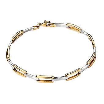 Elements Gold Open Rectangle Link Bracelet - Gold/Silver