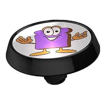 Mikro-Dermal Anchor øverste flad skive sort, krop smykker, Toast