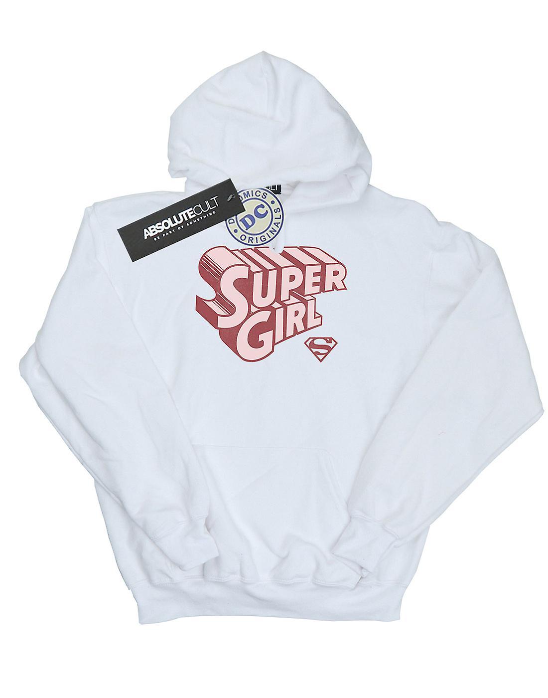 DC Comics Boys Supergirl Retro Logo Hoodie