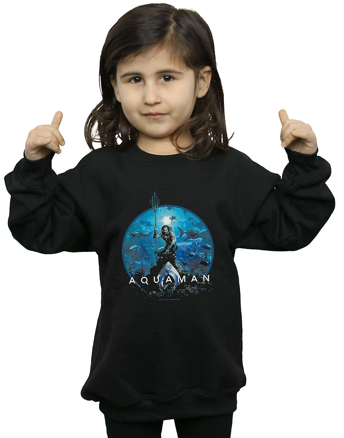 DC Comics Girls Aquaman Circle Poster Sweatshirt