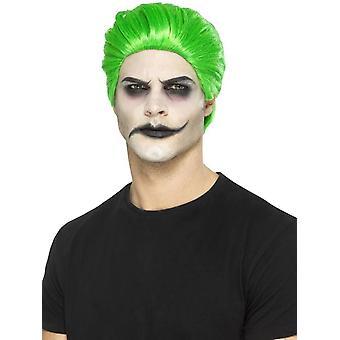 Slick Trickster Wig, Green