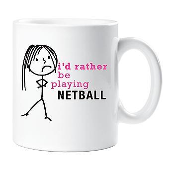 Las señoras algo jugar taza de Netball