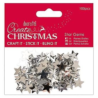 DoCrafts Papermania Star Gems 100 zilver