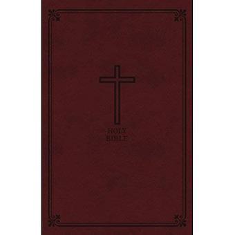 KJV, Reference Bibelen, personlige størrelse gigant Print, imiteret læder, Bourgogne, indekseret, røde bogstav Edition, Comfort-Print