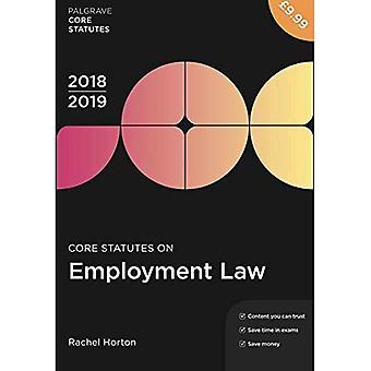 Estatutos de núcleo de empleo ley 2018-19 (Palgrave núcleo estatutos)