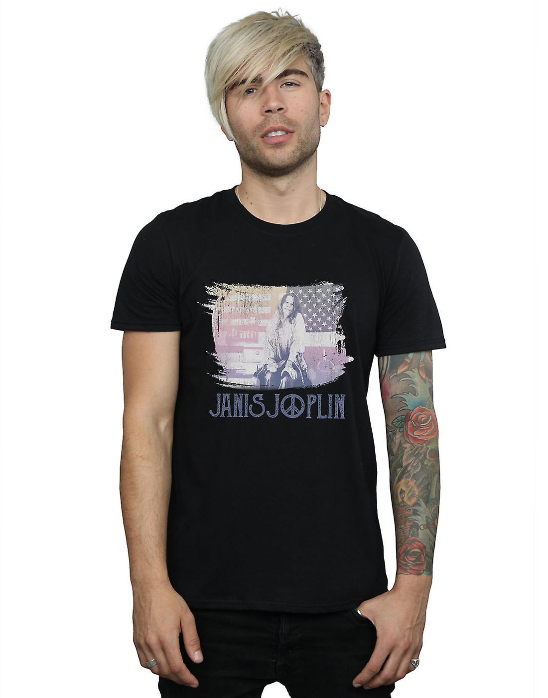 Janis Joplin Men's Stove Flag T-Shirt