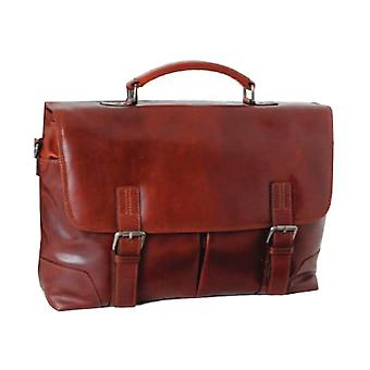 Ashwood Mens Ashwood Elliot Leather Handcrafted Briefcase