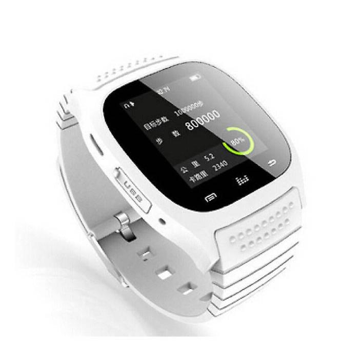 Stuff Certified® Original M26 Smartwatch Smartphone Fitness Sport Activity Tracker Watch OLED Android iOS iPhone Samsung Huawei White