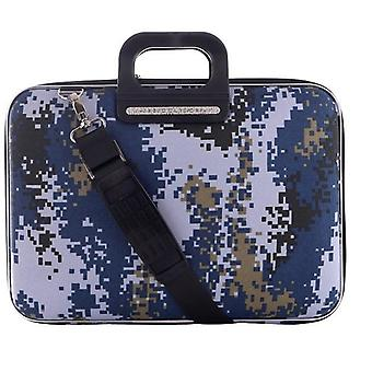 The AVIANO Bombata Briefcase by Fabio Guidoni Messenger Bag - 15 / Blue