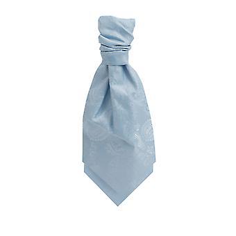 Dobell Boys Light Blue Paisley Cravat