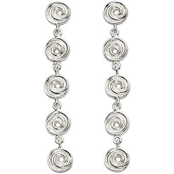 Beginnings Textured Swirl Disc Earrings - Silver