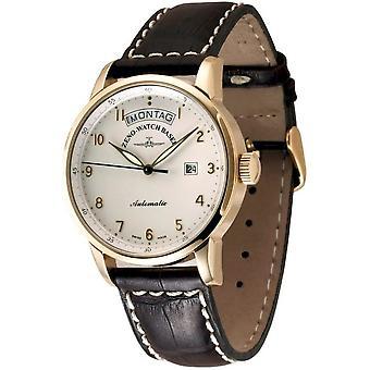Zeno-watch - wrist watch - men - Magellano Big Day gold plated - 6069DD-Pgg-f2