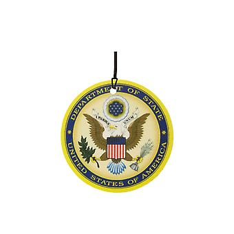 Odświeżacz powietrza samochodu pieczęć Departamentu Stanu USA