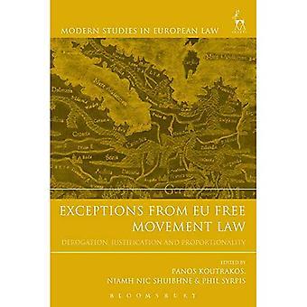 Undantag från EU: s lagstiftning om fri rörlighet – undantag, motivering och proportionalitet (moderna studier i europeisk rätt)