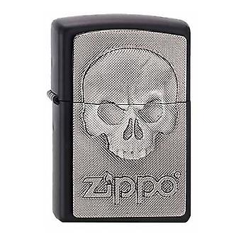 Classic Phantom Skull Black Matte Zippo Lighter