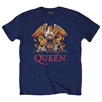 Queen Classic Crest T-Shirt - Navy/Orange/Red