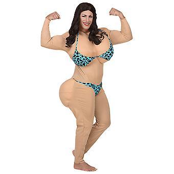 Miss Bikini (salopette W/surdimensionné seins & Butt, bikini)