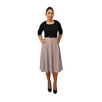 Dbg women's three quarter sleeves round neck polyester dress