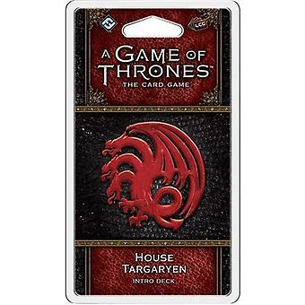 En Game of Thrones LCG 2nd Edition-hus Targaryen Intro Deck Card spil