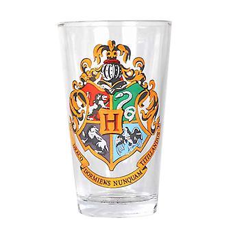 Harry Potter Glass Hogwarts scoala Crest logo nou oficial Boxed 450 ml