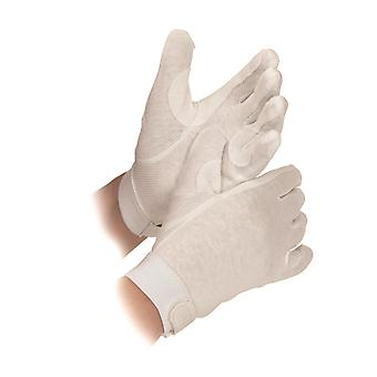 Shires Newbury Adults Cotton Gloves - White