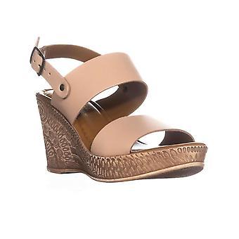Bella Vita mujer Coritaly cuero abierto de punta casual plataforma sandalias