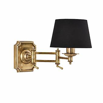 Swing Arm 1 Light Indoor Wall Light Brass - Shade Not Included