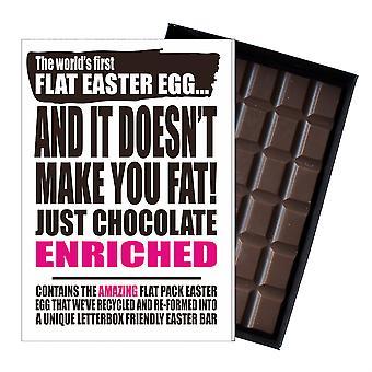 Śmieszne płaskie Easter Egg czekolada bar powitanie karty prezent kobiety Girlfriend żona UK EIYF138