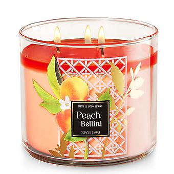 Bad & Body Works Peach Bellini duftende stearinlys 14,5 oz/411 g