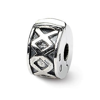 925 Sterling Silver Refleksioner Hængslet X Clip Bead Charm Pendant Halskæde smykker gaver til kvinder