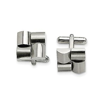 Stainless Steel Brushed Satin Cuff Links Jewelry Gifts for Men