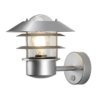 Elstead Lighting Helsingor Stainless Steel Exterior PIR Wall Light In Silver