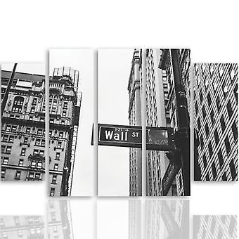 Vijf deel foto op canvas, Pentaptych, Wall Street 3