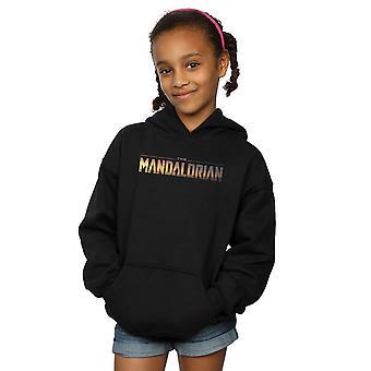 Star Wars meisjes de Mandalorian serie logo hoodie
