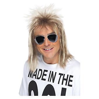 Salmonete de hombres de los años 80 peluca disfraces accesorios