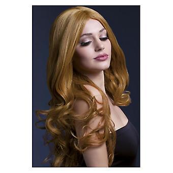 Mujeres fiebre Rhianne peluca castaño disfraces accesorios