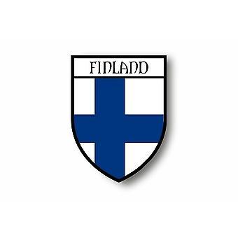 Adesivo adesivo auto moto Blason Città Bandiera Finlandesi