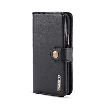 Dg. MING iPhone 11 Pro Split Leather Wallet Case-Black
