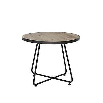 Light & Living Side Table Ø66x54 Cm BARBUDA Black With Wood