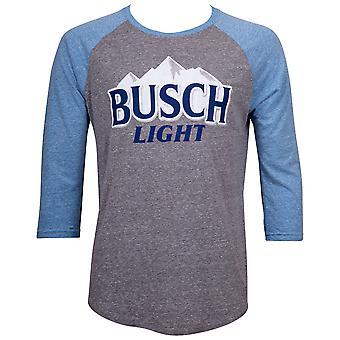 Busch Light Blue and Grey Raglan T-Shirt