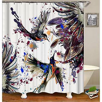 Dunkle Malerei Kolibri Duschvorhang