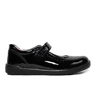 Ricosta Lillia 8625700-093 musta kiilto nahka tytöt Mary Jane koulu kengät